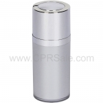Airless Bottle, Shiny Silver Twist Up Dispenser, Platinum Body, 15 mL