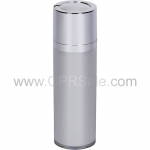 Airless Bottle, Shiny Silver Twist Up Dispenser, Platinum Body, 30 mL