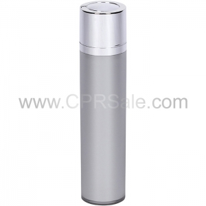 Airless Bottle, Shiny Silver Twist Up Dispenser, Platinum Body, 50 mL - Texas
