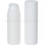 Airless Bottle, White Cap, White Collar, White Body, 30 mL