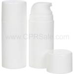Airless Bottle, Glossy White Cap, Glossy White Pump, Glossy White Body, 100 mL