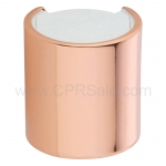 Cap, 20/410, Disc Cap, Shiny Rose Gold Over-cap