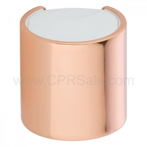 Cap, 24/410, Disc Cap, Shiny Rose Gold Over-cap
