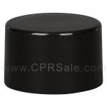 Cap, 24/410, Smooth Screw Cap (Phenolic), Black with F-217 Liner