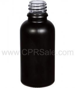Tincture Bottle, 30ml (1oz.) Black, Matte Glass , 18-400