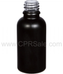 Tincture Bottle, 30ml (1oz.) Black, Matte Glass , 18-400