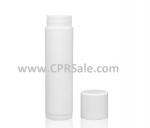 Lip Balm Tube, White Cap, White Body, 0.15 mL